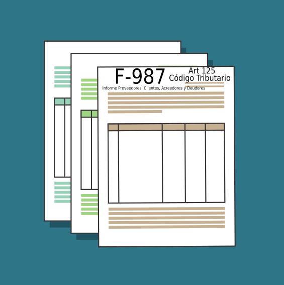 f987 Informe Proveedores, Clientes, Acreedores y Deudores Articulo 125