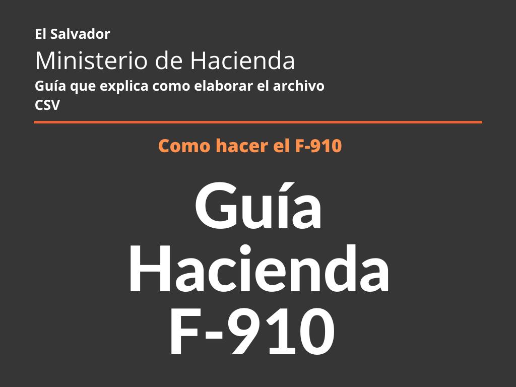 Guía de Hacienda F-910