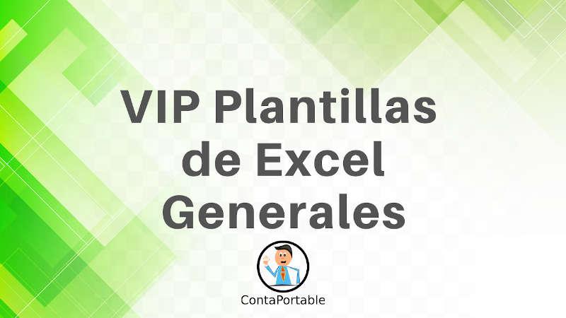 VIP Plantrillas de excel generales