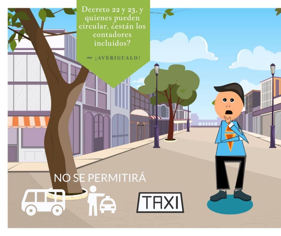 Decreto 22 y 23, se prohibe el transporte publico en El Salvador