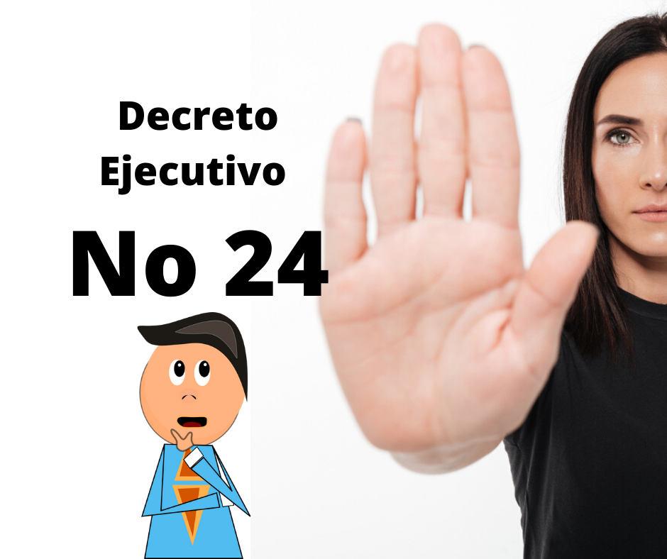 Decreto Ejecutivo No 24 El Salvador 2020