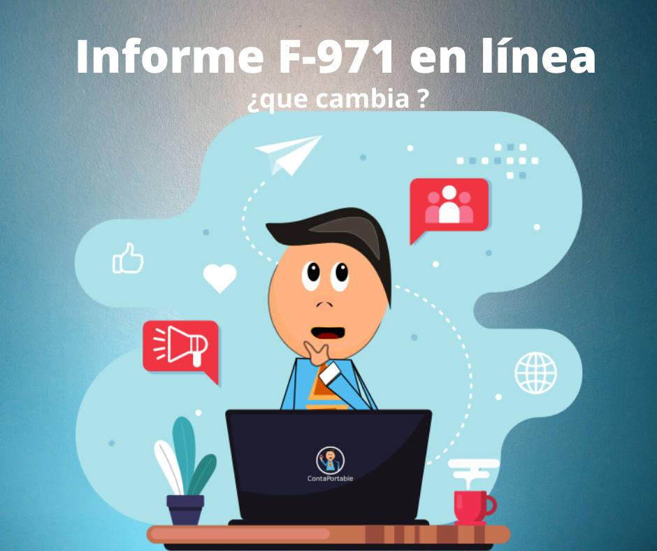 Informe F-971 en linea